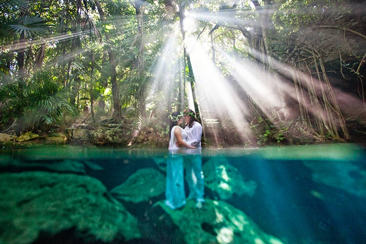 wedding in a cenote