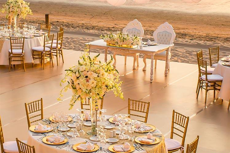 wedding in a resort