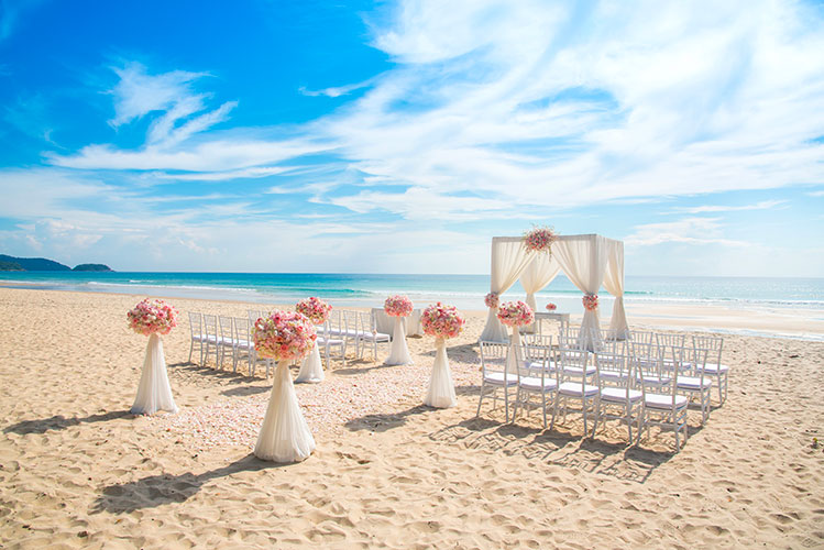 beach wedding riviera maya